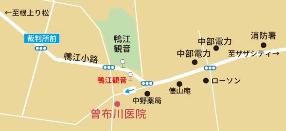 曽布川医院歯科のマップ